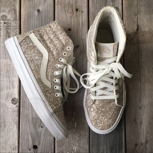 Silver glitter vans. Great condition, gently used